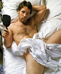 Paul Rudd in bed.
