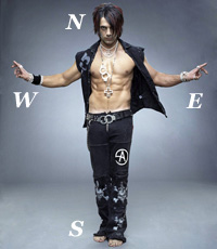 Criss Angel, pointed due north